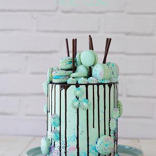 Drip Cake turquesa