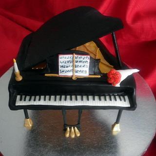 Baby Grand Piano Cake - Cake by Andrea Bergin