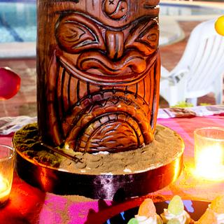 Wooden Tiki  Statue
