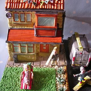 The Shaw family house cake