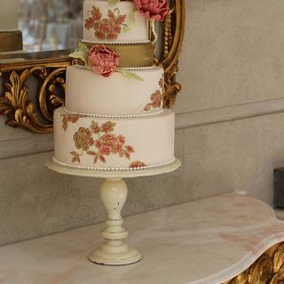 Coral and Gold Wedding