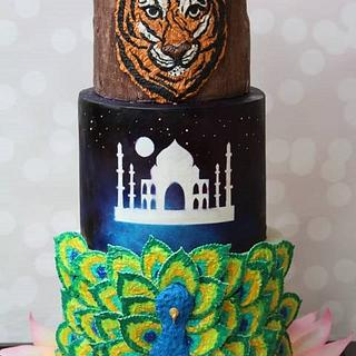 Incredible India cake  - Cake by TheSugarCanvas