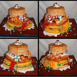 Food stack cake