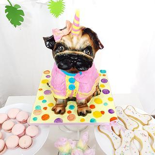 Pugs love - Cake by DomiCakesArt