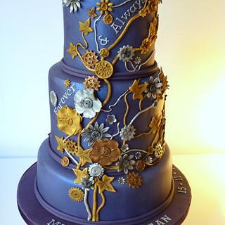 Steampunk-ish wedding cake
