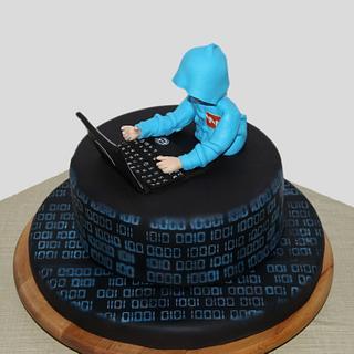 Cyber warrior cake - Cake by yael
