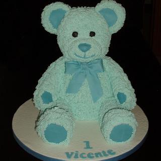 Blue Teddy Bear - Cake by Clara da Cruz