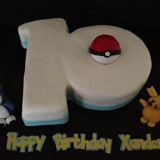Pokemon 10th birthday cake