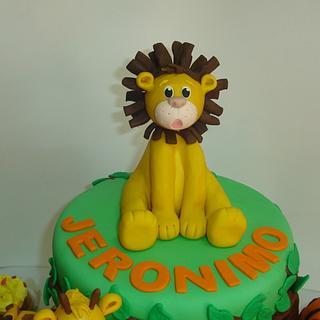 Lion Topper Cake