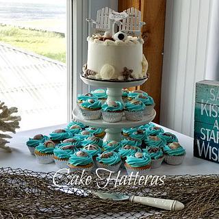 Beach Wedding Cake With Soccer Ball