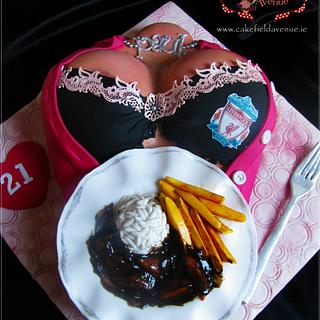 18 + ... DINNER SERVED :) - Cake by Agatha Rogowska ( Cakefield Avenue)