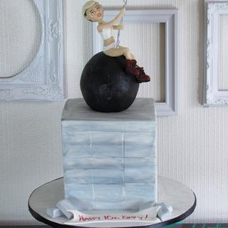 Miley on a Wrecking Ball!!  - Cake by Eat Cake