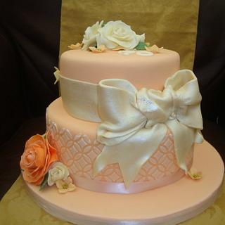 Peaches and Cream No2 - Cake by Claire