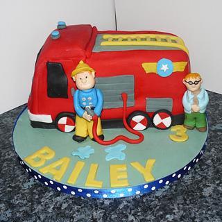 Fireman sam cake  - Cake by Krazy Kupcakes