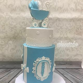 baby shower cake - Cake by cakesparadise2012