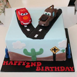 Cars inspired cake for twins
