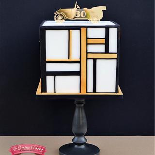 Art Deco 'Great Gatsby' Man Cake