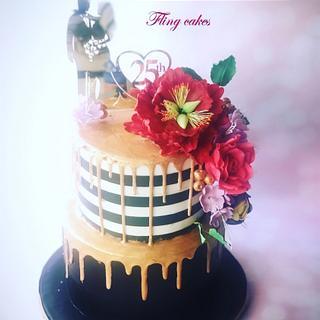 25th aniversary cake