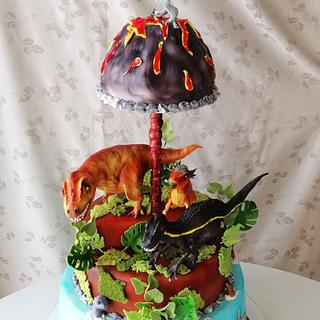 Jurassic park - Cake by Marianna Jozefikova