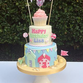 Beach Hut stacked cake