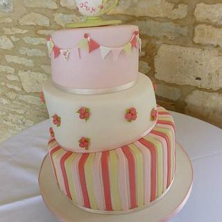 Whimsical Teacup Wedding Cake  - Cake by Samantha Tempest