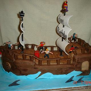 Pirate Ship cake - Cake by Dana