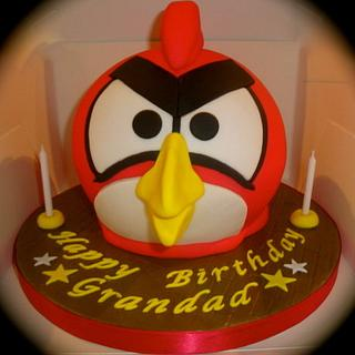 Angry Bird Birthday Cake - Cake by Claire