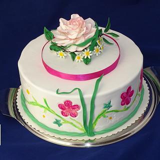 Flowercake - Cake by Danis Sweet Dreams