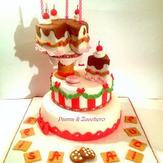 Candy Christmas cake