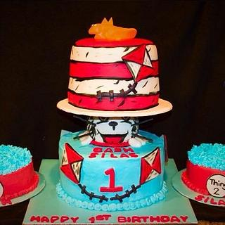 Cat in the Hat w/ Thing 1&2 Smash Cakes