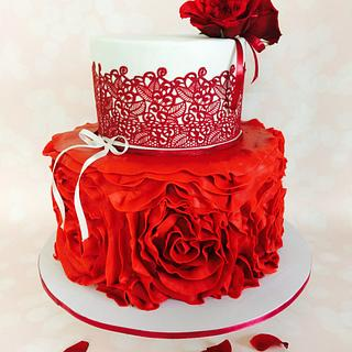 Red beauty  - Cake by Cakestry