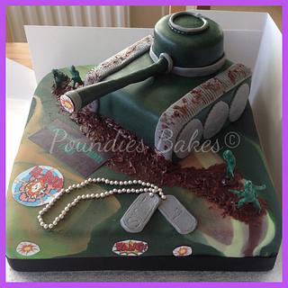 Tank cake - Cake by Poundies Bakes