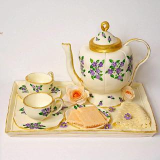 Tea pot set- (cake this again collaboration)