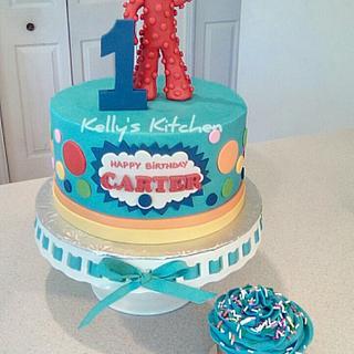 Yo Gabba Gabba first birthday cake