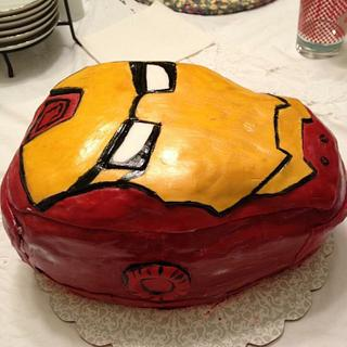 Iron man mask!  - Cake by Michelle Knoop