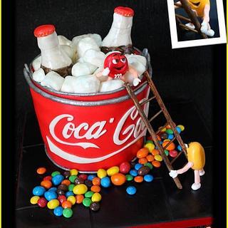 M&M's & Coca Cola Fan x - Cake by DusiCake