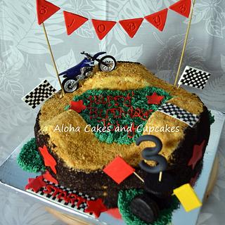 Terrific Dirt Bike Birthday 3 Cakes Cakesdecor Funny Birthday Cards Online Alyptdamsfinfo