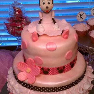 Minnie Mouse Ruffled Cake - Cake by Kim Hood