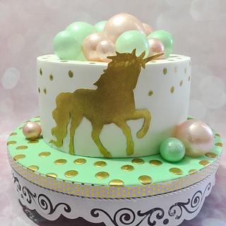 Unicorn bubble cake