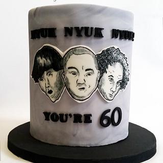 Handpainted Three Stooges Cake