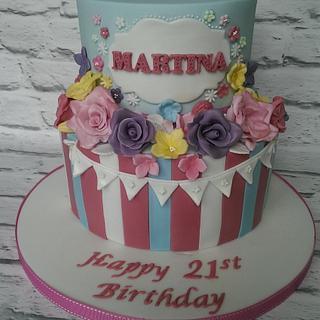 Springtime 21st cake