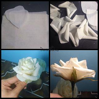 Rice Paper Rose