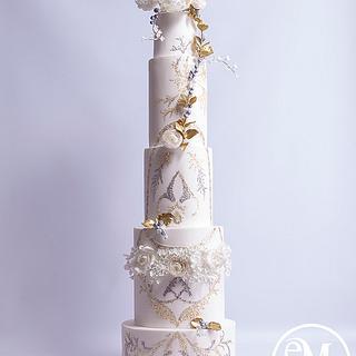 Ethereal Elegance - Zuhair Murad fashion inspired cake