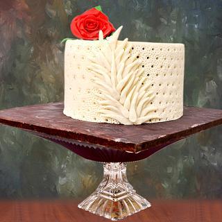 Caker Buddies pottery theme collaboration- Love & Peace - Cake by SeasonsofCakes