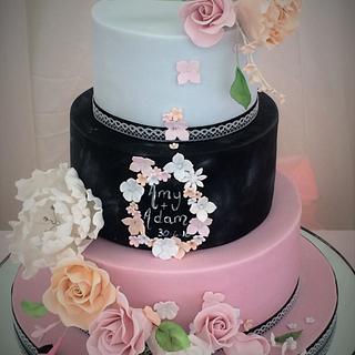 pastal wedding cake