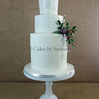 Winter wedding cake...