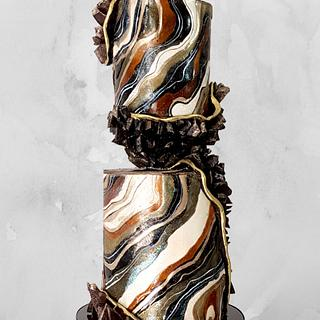 """Black Geode Wedding Cake"" by Sophia Fox"