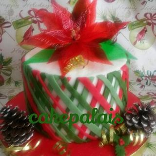 Poinsietta cake
