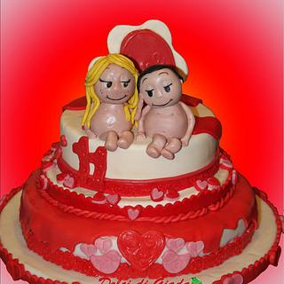 Love is..... <3 a cake !