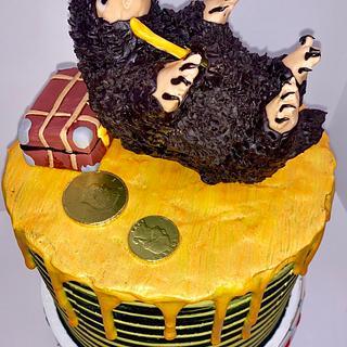 Niffler - Fantastic Beasts - Cake by Sharp Sweets